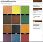 Architectural concrete stain finishes and colors