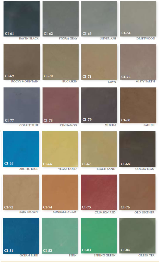 Polished Concrete Dye Colors